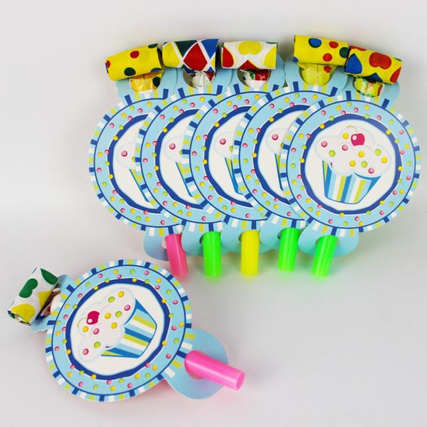 6 unids / pack Príncipe Helado Tema Fiesta de Cumpleaños de Niños Explosión de Papel Para el Partido Suministros de Decoración