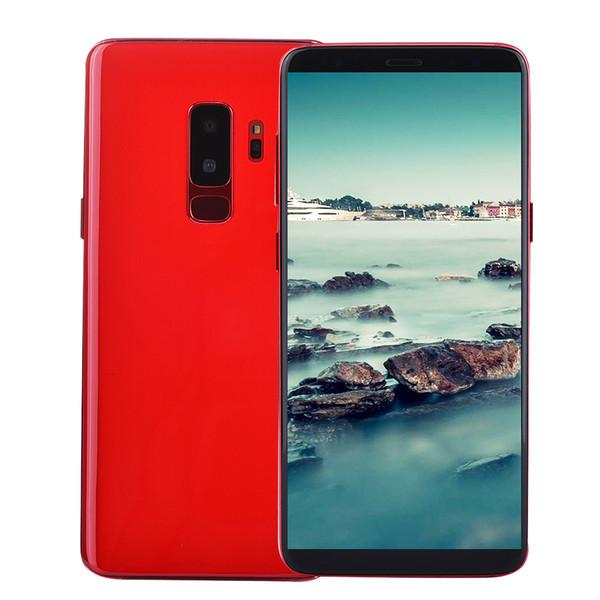 best selling Show 4G LTE Octa Core 6.2 inch Full Screen 2560*1440 Goophone S9+ Plus Clone 64GB 128GB 256GB Face ID Fingerprint Back 2.5D Glass Smartphone