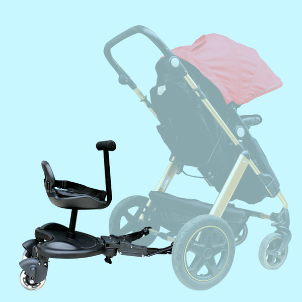 Free Shipping Baby Stroller Accessory -- Adjustable Pedal, Baby Car Pedal for 2 Kids, Toddler Standing Footboard