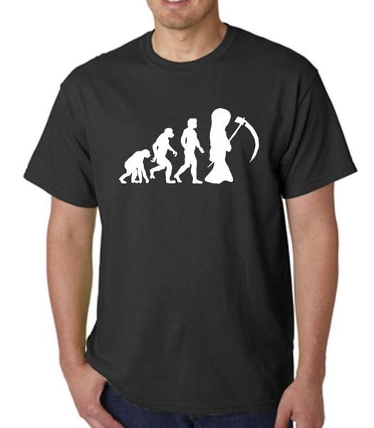 Grim Reaper Grimm esinlenerek Grimm masallarından Erkek T Shirt Evrimi