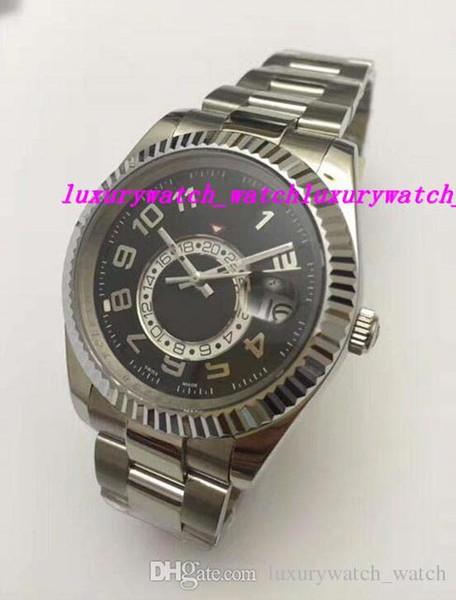 Роскошные Часы Мужчины Браслет Из Нержавеющей Стали Арабский / Римский Циферблат * NEW * 41 мм Автоматическая Мода мужские Часы Наручные Часы
