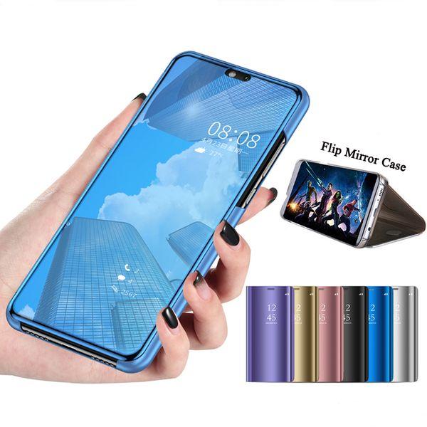 Для Huawei Mate20 Mate 20X10 9 P20 P30 Pro P10 Lite Умный Зеркало Флип Чехол Стенд Покрытие Крышка С Чипом