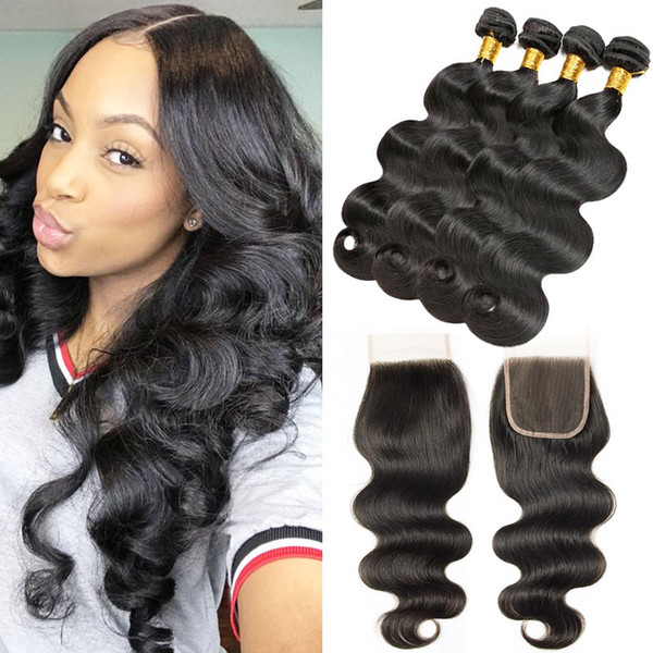 Brazilian Body Wave Remy Human Hair 4bundles lot 100% 7a Unprocessed Human Hair Extensions Natural Black Best Quality Brazilian Bundles