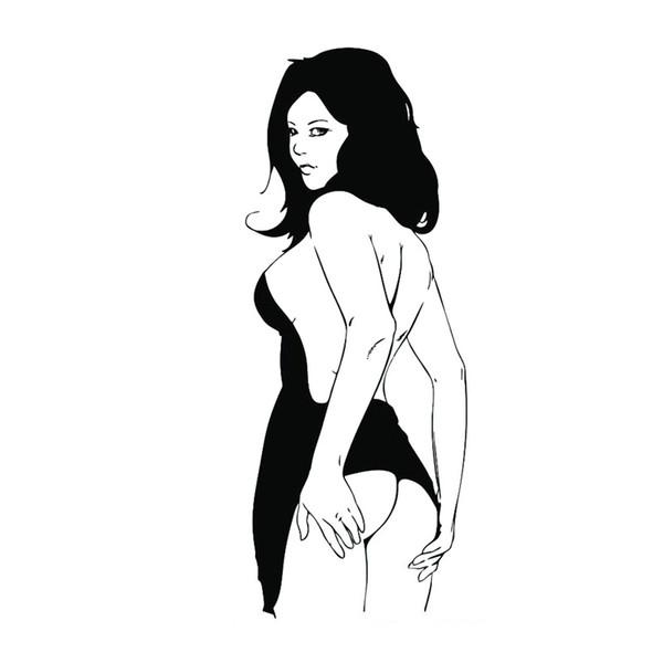 Super Sexy Naked Girl Beauty Temptation Nude Sticker Stylish Glass Tile Bathroom Door Sticker