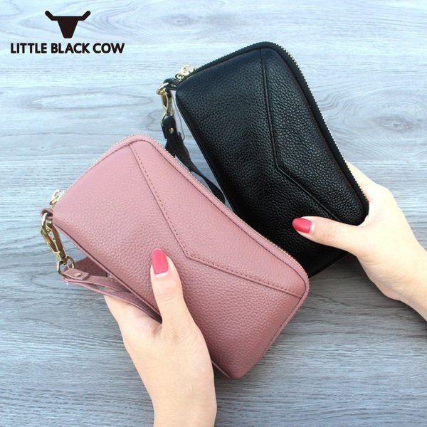 High Quality Leather Mini Handy Wallet Women Clutch Casual Zipper String Flap Money Bags Monederos Para Mujer 6inch Phone Bag