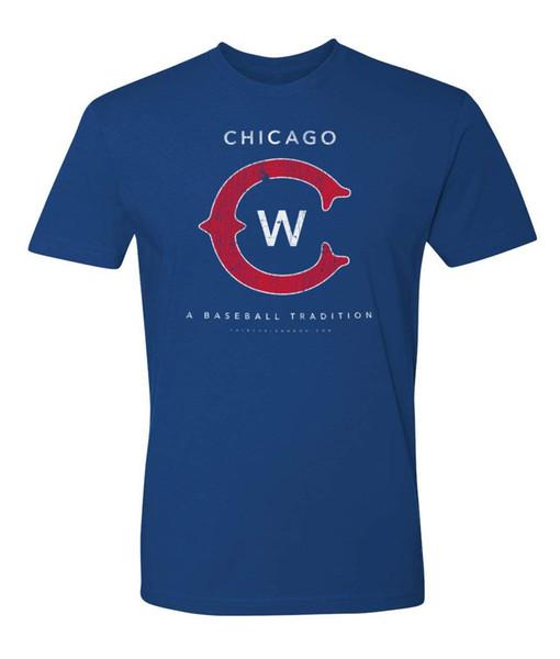 Chicago C Baseball T Camisa Mens Vintage 2018 - estilo suave
