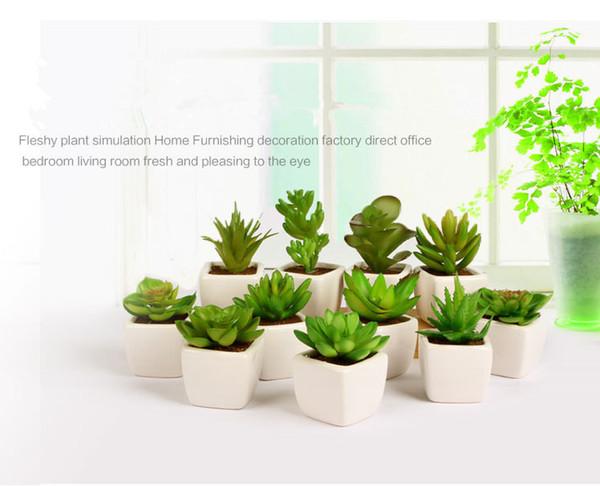 Acheter Faux Artificielle Plantes Succulentes Plantes Emulational Pour  Bureau Maison Table Bureau Jardin Présenté Mini Fleur Décoration De $3.2 Du  ...