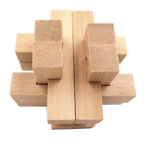 best selling Kids Wooden Lock 3D Puzzles Game Toy Game Educational IQ Brain Teaser For Adults Kids Toys Gifts