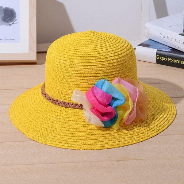 Sombrero de Verano Adulto Casual Straw Dresses Elegante Sombrero de Mujer Niñas Summer Sun Beach Cap para Ladies Large Brim Chapeau 2018