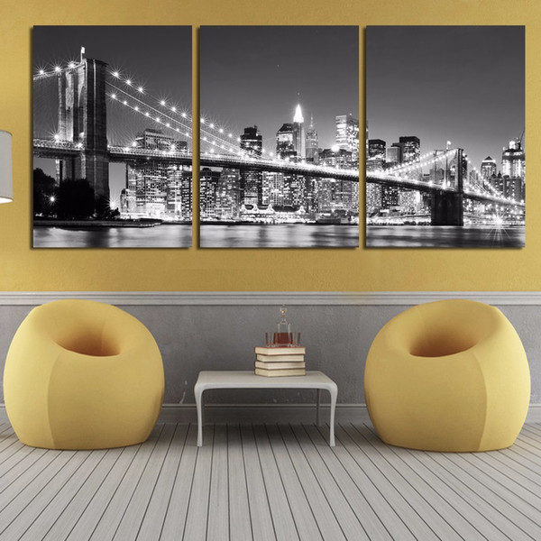 3 Pcs New York Brooklyn Bridge Posters And Prints Home Decor Wall Art Picture Canvas Painting Cuadros Decocation No Frame