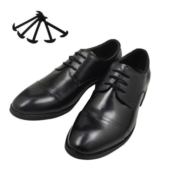12pcs/set Men Women Leather Shoes Lazy No Tie Shoelaces Novelty Elastic Silicone Shoe Lace All Fit Strap Business Shoes Strings