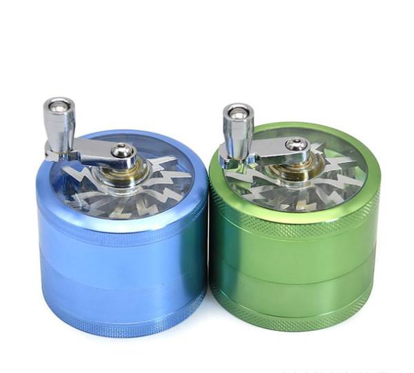 El tipi saf renk duman değirmeni yeni tip alüminyum alaşım çok renkli 63MM 4 katmanları.