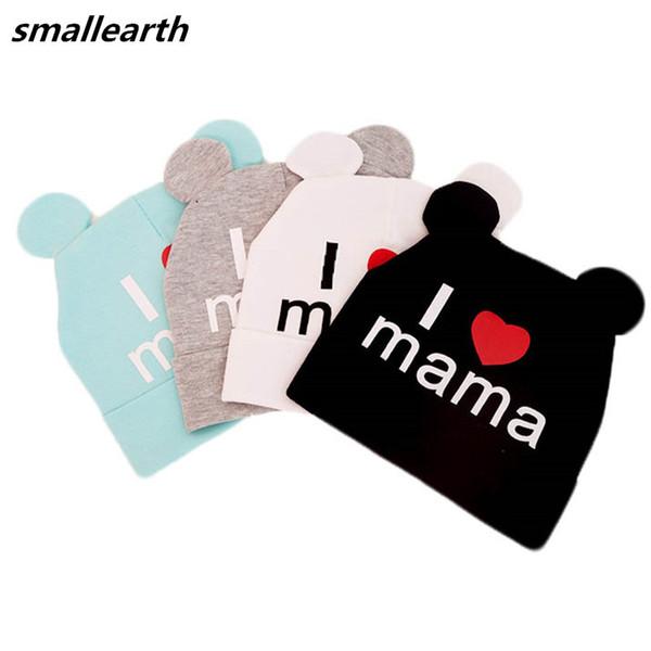 2018 Autumn Winter Crochet Baby Hat Girl Boy Cap Kids Beanies Cute Bear Ear Hats for Children Spring Cotton Solid Caps Warm Hat