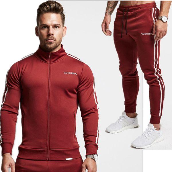 2018 Spring Autumn Men'S Fashion Sportswear Sporting Men Clothes Track Tracksuits Male Sweatshirts Men Plus Size Set