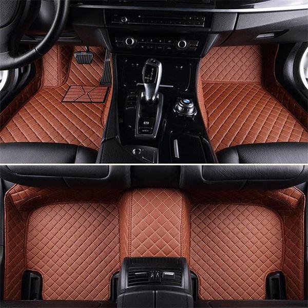Custom Fit específico carro piso tapetes impermeável PU couro para vasto modelo de carro e fazer conjunto completo carro interior acessório fácil de limpar tapetes