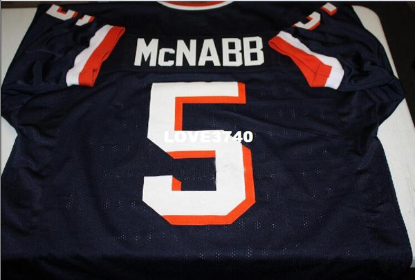 best selling Men SYRACUSE ORANGEMEN DONOVAN MCNABB #5 RETRO JERSEY Full embroidery Jersey Size S-4XL or custom any name or number jersey