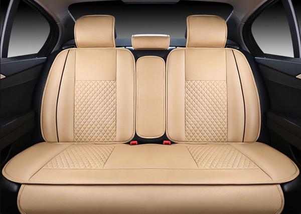 Stupendous Universal Fit Car Seat Covers Deluxe Edition Car Seat Cover Cushion 5 Seats Front Rear Pu Leather W Pillows Protective Seat Covers For Trucks Radian Pabps2019 Chair Design Images Pabps2019Com