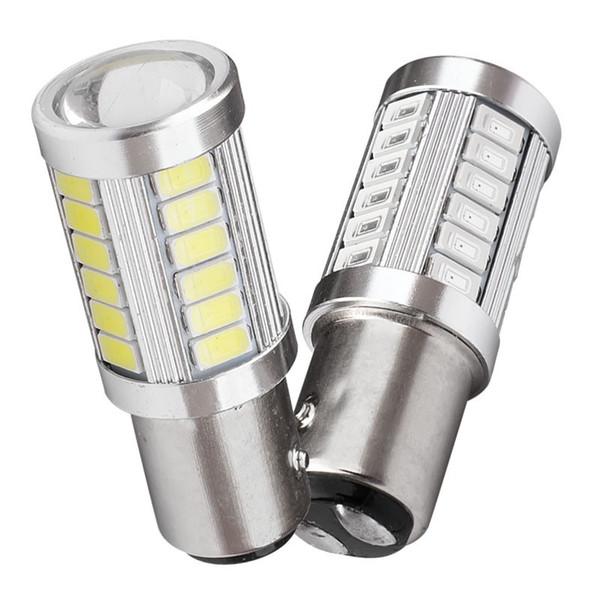 1157 P21 / 5W BAY15D Super Bright 33 SMD 5630 5730 LED-Selbstbremslichter Nebelscheinwerfer 21 / 5W Autotageslicht-Stoppleuchten 12V