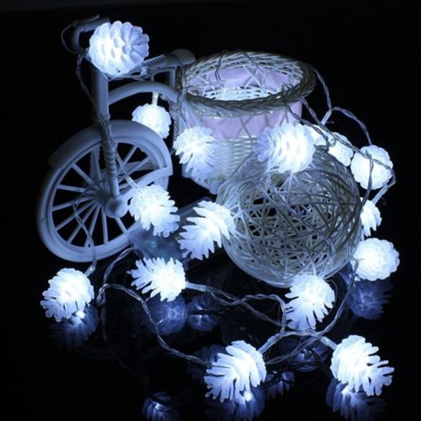 5m 40 Led New Year Products Pine Cone String Fairy Lights New Year Xmas Tree Garland Christmas Tree Decorations For Home