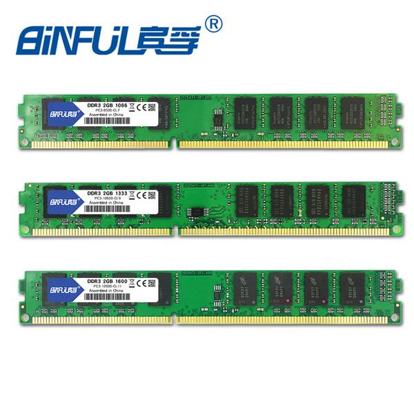 Computer Components RAMs BINFUL DDR3 2GB 1333 1600MHZ 1066MHZ 3-10600 PC3-12800 PC3-8500 Desktop RAM Memory 240pin 1.5