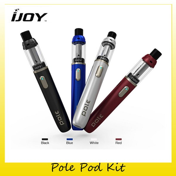 Authentic IJOY Pole Pod Starter kit 650mAh Battery 15W All-in-One Vape Pen For Original MTL Atomizer Ceramic Coil 100% Genuine