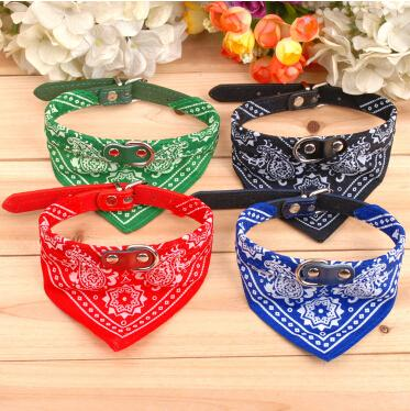 Dog Scarf Collar Adjustable Puppy Bandana Pet Dog Napkin Cat Tie Collars Handsome Triangle Necklace 20 Pcs