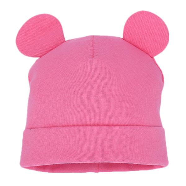 Children Cotton Solid Cap Soft Warm Hat Cartoon Cute Bear Ear Hats for Boys Girl Cute Ears Spring Autumn Baby & Kids Beanie Caps