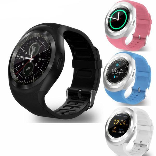 Y1 Smart Watch Ronde Sharp Support SIM avec Whatsapp Facebook Business Smartwatch Push Message Pour IOS Android Téléphone avec Retail Package
