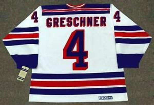 RON GRESCHNER Rangers de New York 1986 CCM Vintage Accueil personnalisé N'importe quel nomNon. Maillots personnalisés de hockey