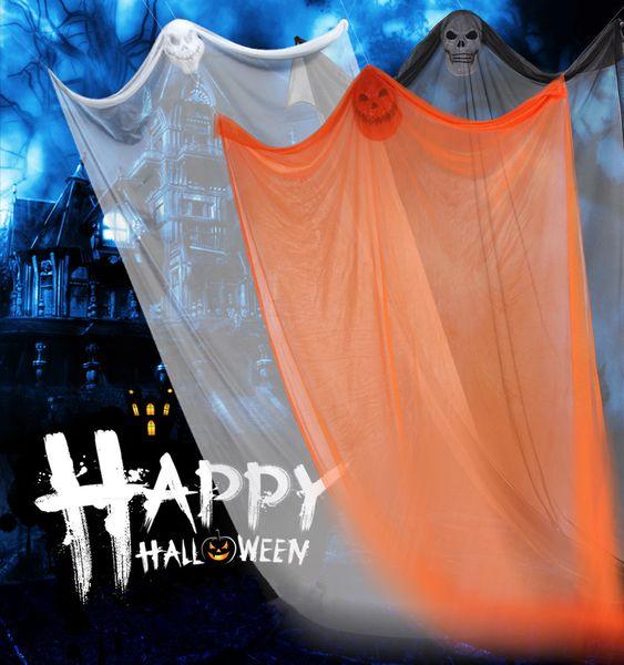 Halloween Hanging curtains Ghost Haunted House Skull Skeleton Escape Horror Door KTV Bar outdoor Decor Props