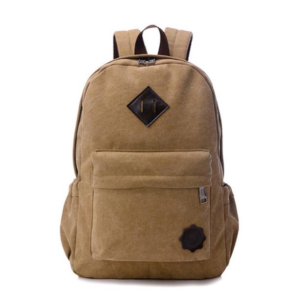 Высокое качество холст рюкзаки большой емкости дугообразные плечевой ремень путешествия рюкзак мужчины рюкзак школа hombre рюкзак