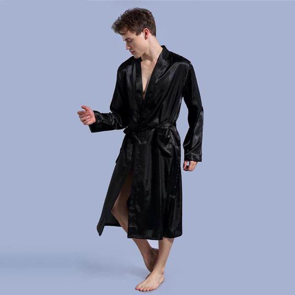 Kimono Robe Men Mens Silk Bathrobe Robe Sexy Kimono Hombre 1197 afa867786