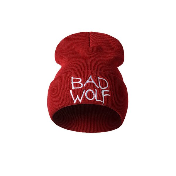 Feitong Hot Sale Unisex Hat Letter Embroidery Fashion Keep Warm Wool Knitted Earmuffs Hats Handmade Knitting Caps Men Women