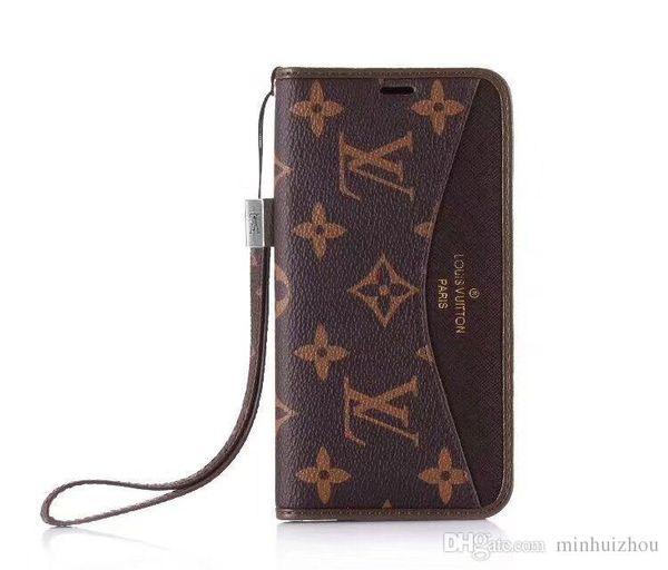 Neue luxuriöse Marke zum Aufdrucken von Handytaschen aus Leder in Lederetui für iPhone X