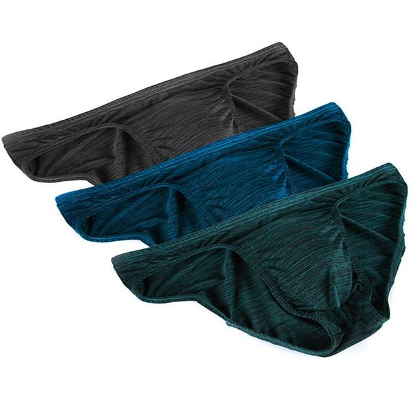 7pcs / lot sous-vêtements sexy hommes slips Bulge Pouch Mens Underpants coton Short taille basse respirant Cueca Gay sous-vêtements mini slip