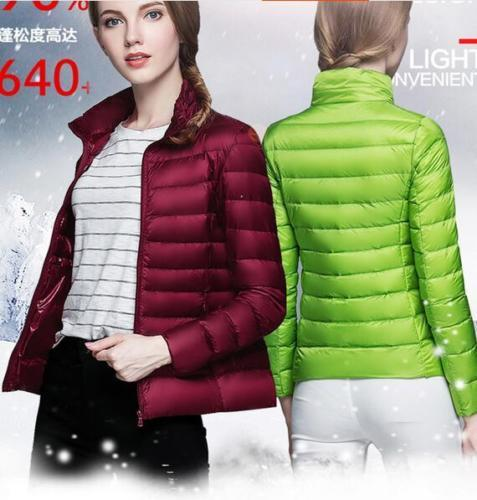 Factory Sale Womens 90/% Hooded Down Jacket Puffer Coat Ultralight Outdoor