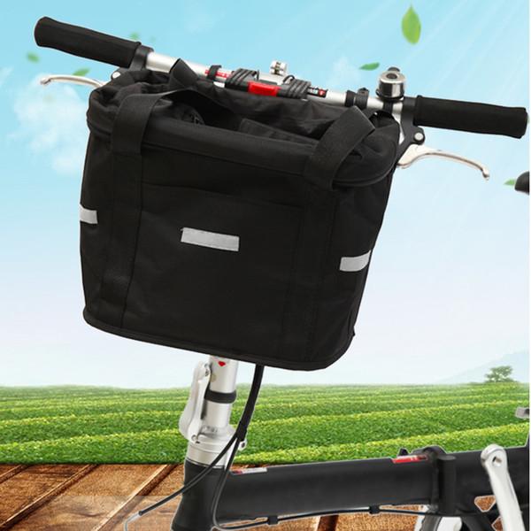 Bicycle Basket Detachable Cycling Bike Handlebar Front Carrier Bag Pet Carrier Aluminum Alloy Frame Pet Pouch Outdoor Rucksack