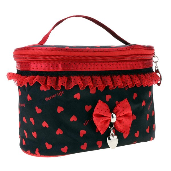 Womens Handbag Black bottom Cosmetic bag