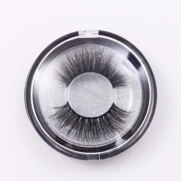 S Series Mink Lashes 3D Mink False Eyelashes Long Lasting Lashes Crisscross Natural Mink Eyelashes Round box Glitter Packaging