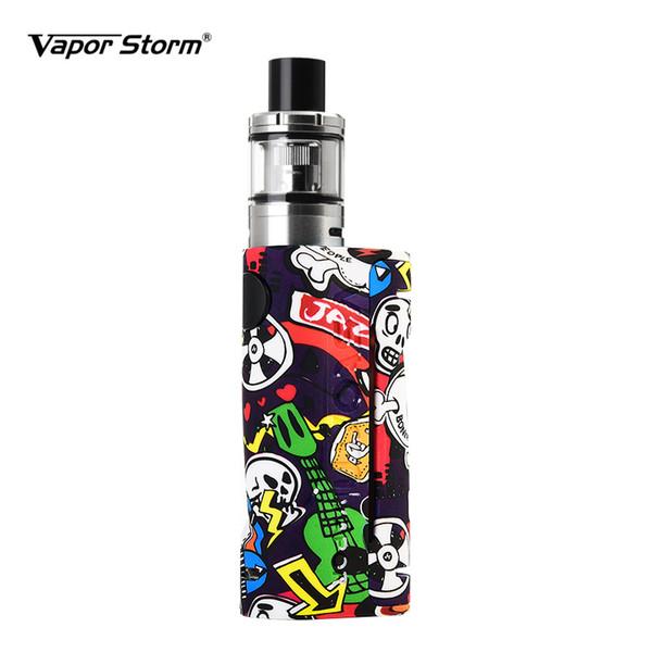 Vapor Storm ECO Kit Max 90W Electronic Cigarette Tank 2.0ml 0.3ohm Graffiti Box Mod Vape 510 Drip Tip Support RDA RDTA Vaporizer Fit 18650