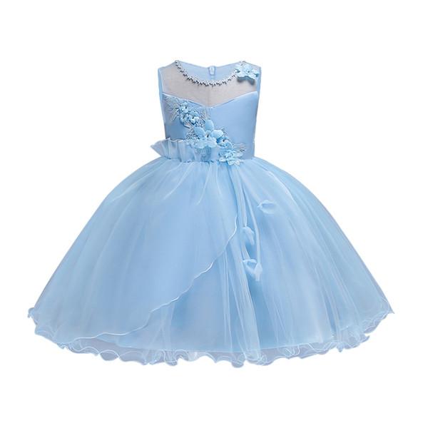 Elegante Perlen Pailletten Mädchen Festzug Kleider 2018 Spitze Mädchen Kommunion Kleid Ballkleid Kinder Formelle Kleidung Blumen Mädchen Kleider für Hochzeit