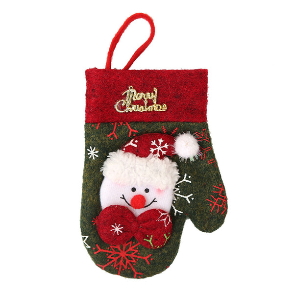 Gloves Shaped Christmas Cutlery Fork Spoon Bag Tableware Holder Cover Dining Table Decor