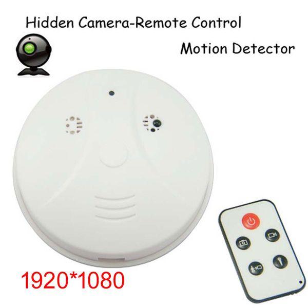 1080p HD Smoke Detector Detection Model Camera CAM mini camera DVR Camcorder DV + Remote Controller White