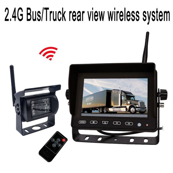 ACCFLY 5 inch Wireless Backup Camera Kit Waterproof Wireless Rear View Camera,Night Vision Reverse Rearview Cam for Truck car