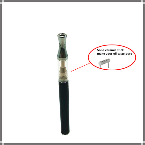 ceramic stick oil disposable vape pen ceramic disposable pen disposable pen Ceramic Coil Cartridge 0.5ml Pyrex Glass Vaporizer Atomizer