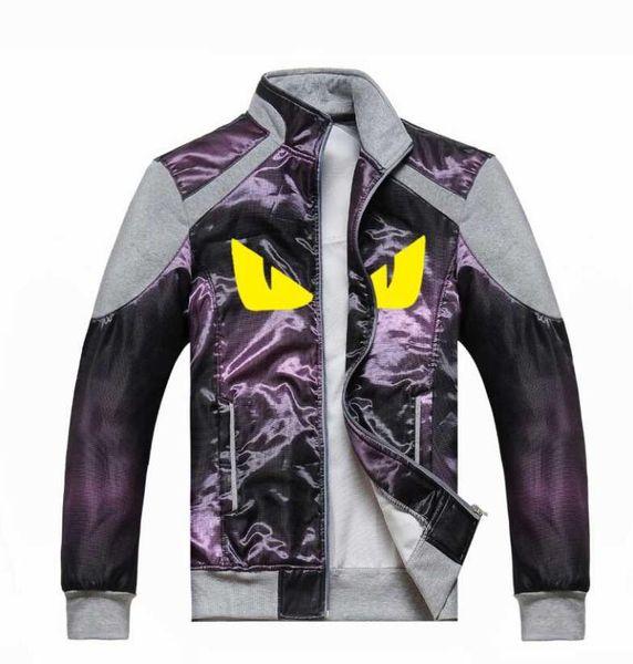 top popular European style yellow eye pattern designer clothes fashion zipper jacket nine colors optional men's jacket high quality fabric 2019