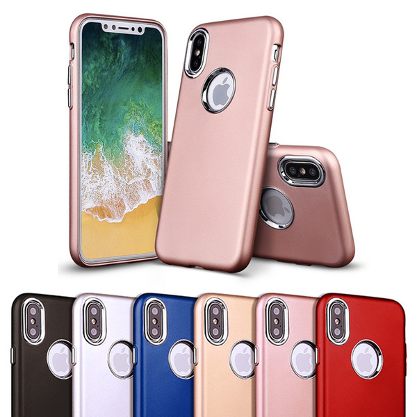 Matte Soft Phone Case for iPhone X 8 7 6S Plus TPU Luxury Frosted Back Cover for iPhone X iPhone8