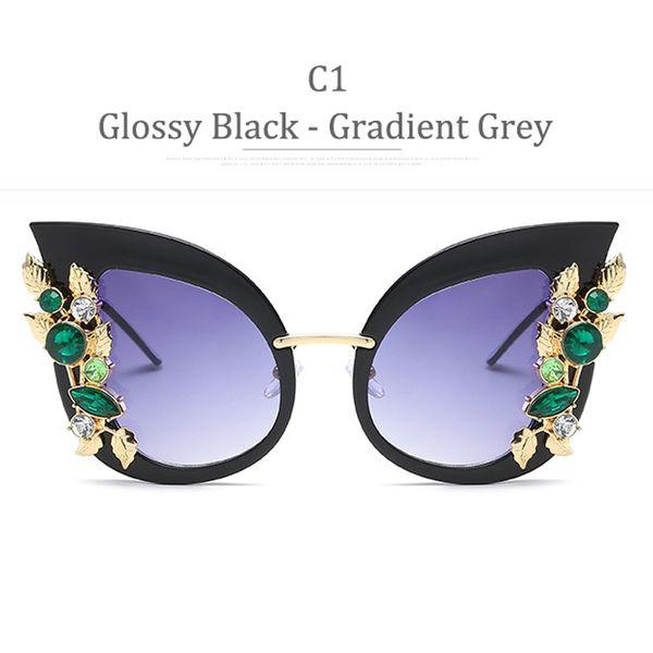 C1 Golssy Black Frame Gadient Grey