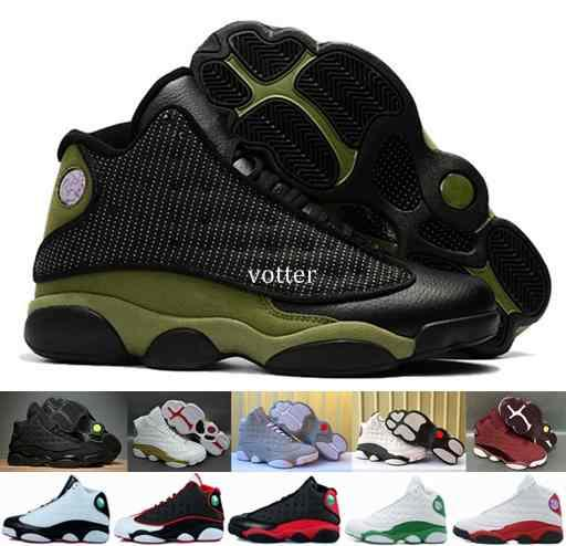 b7ffae14cb0 2018 Mens 13 Wheat Olive Army Green Basketball Shoes,13s DMP Black Cat Navy  blue