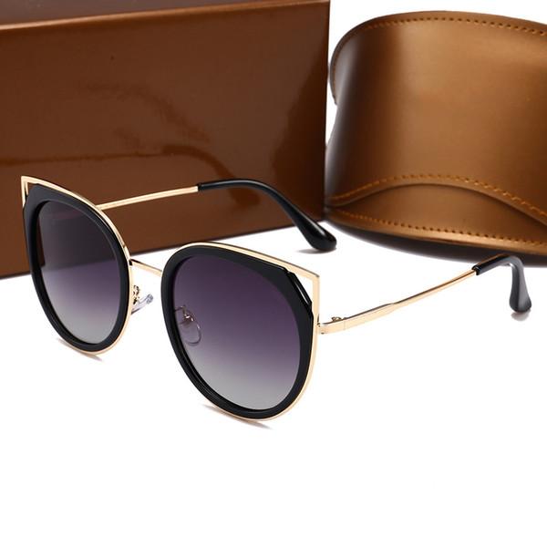 58002 Cat Eye Style Sunglasses New Famous Men Brand Designer Summer Popular Sunglasses Retro Oval Design Full Frame Summer Glasses UV400
